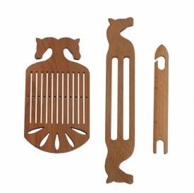 Strap weaving set