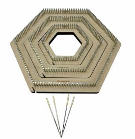 Hex pin loom