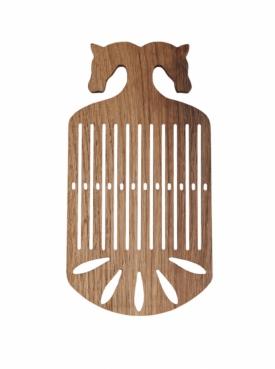 Wooden heddle