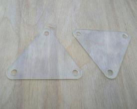 Triangular weaving tablets